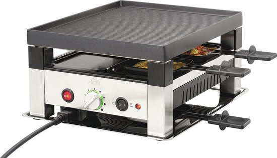 Solis 5 in 1 Table Grill 791 - Grill Apparaat - Gourmetstel 4 personen