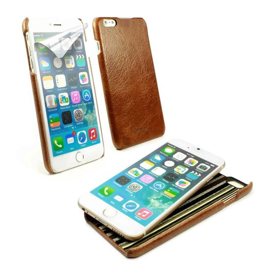 Alston Craig Slim-Shell Klassiek Origineel Leren Hoesje Voor Apple iPhone 6 Plus/6s Plus - Bruin