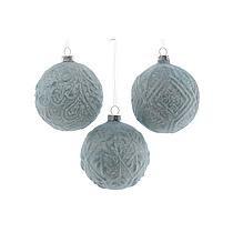 Christmas Decorations - Glazen kerstballen (Ø8 cm) (set van 3)
