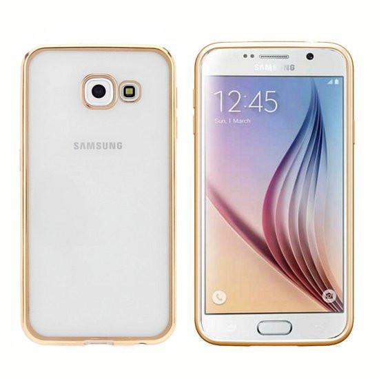 Colorfone PREMIUM Bumper Clear / Cover voor de Samsung A3 2016 Goud